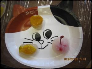 「かぼちゃとフルーツ入り葛餅」できたよ!